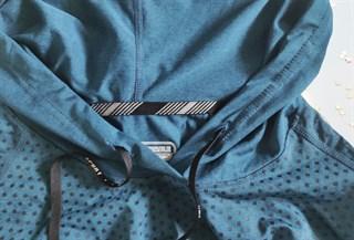 Лонгслив с капюшоном. Сочный синий и благородный серый - фото 4756