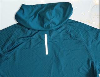 Лонгслив с капюшоном. Сочный синий и благородный серый - фото 4760