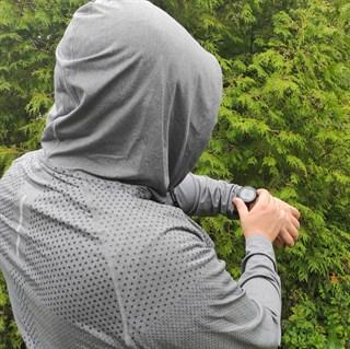 Лонгслив с капюшоном. Сочный синий и благородный серый - фото 4832