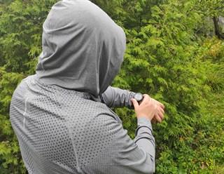 Лонгслив с капюшоном. Сочный синий и благородный серый - фото 4833